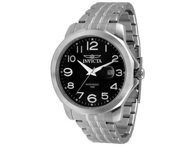 Invicta 5772 Men's Specialty Stainless Steel Black Dial Watch
