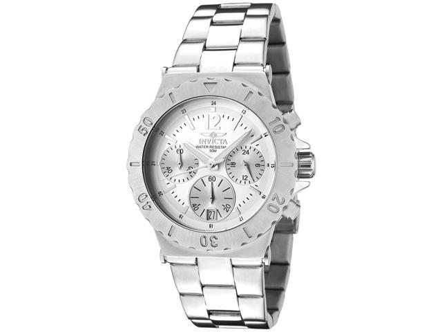 Men's Invicta II Chronograph Silver Dial Stainless Steel Watch