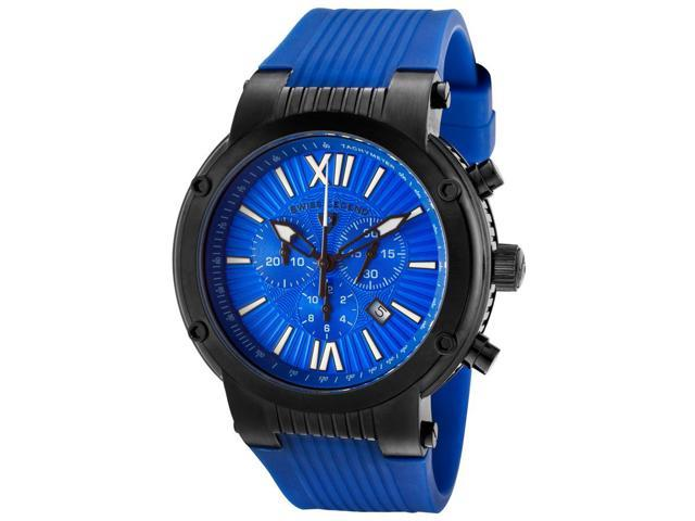 Swiss Legend Legato Cirque Men's Blue Dial Silicone Analog Watch