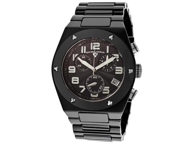 Swiss Legend 10028-Bkbsa Throttle Chronograph Black Ceramic And Dial Black Ceramic Watch