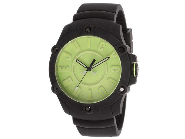 Juicy Couture 1900906 Women's Surfside Black Silicone Neon Green Dial Watch