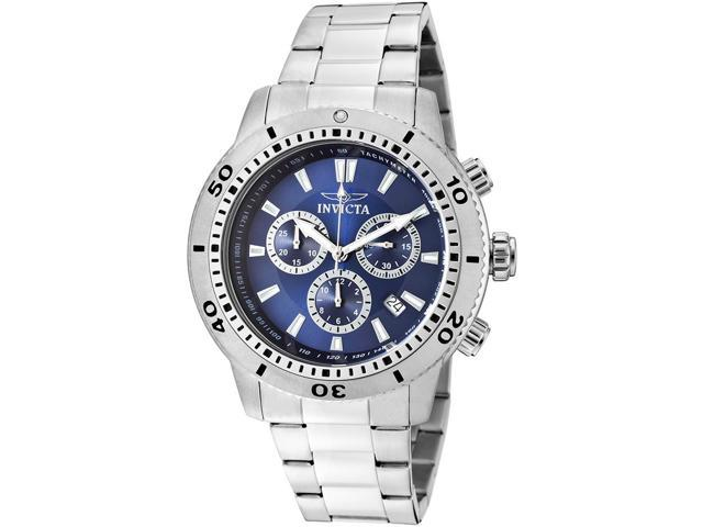 Invicta 10362 Men's Specialty Chronograph Stainless Steel Blue Dial Stainless Steel Watch