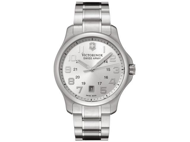 Swiss Army Men's Officer's Silver Dial Stainless Steel