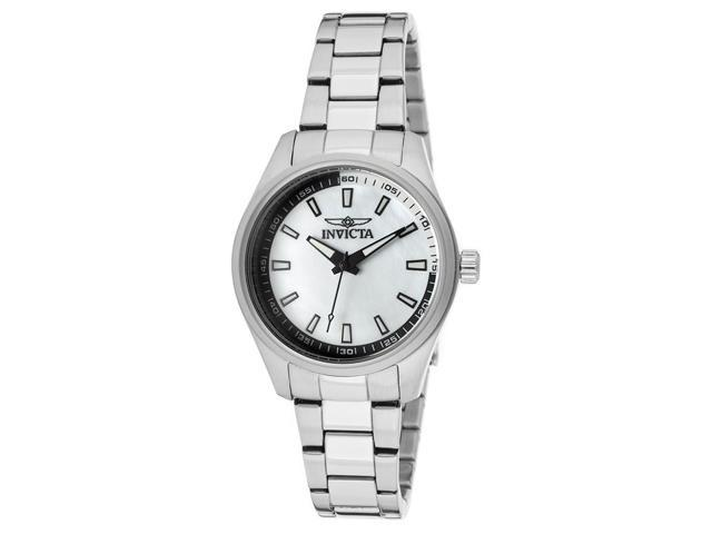 Invicta 12830 Women's Specialty Silver-Tone Ss White Mop Dial Watch