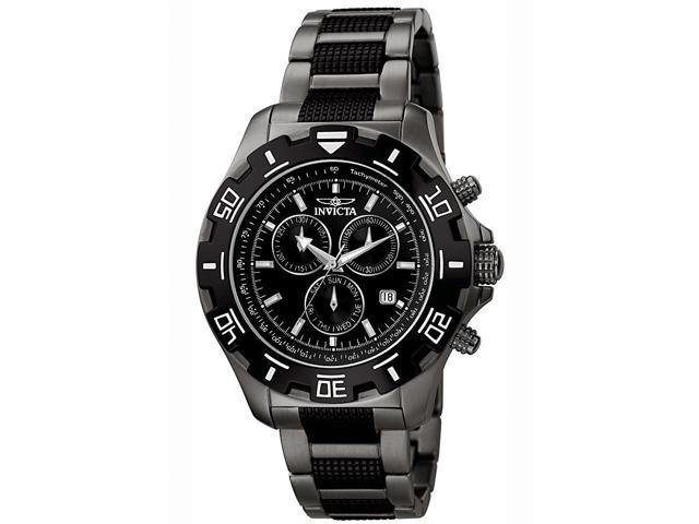 Invicta Men's Specialty Chronograph Gunmetal IP SS Black Watch
