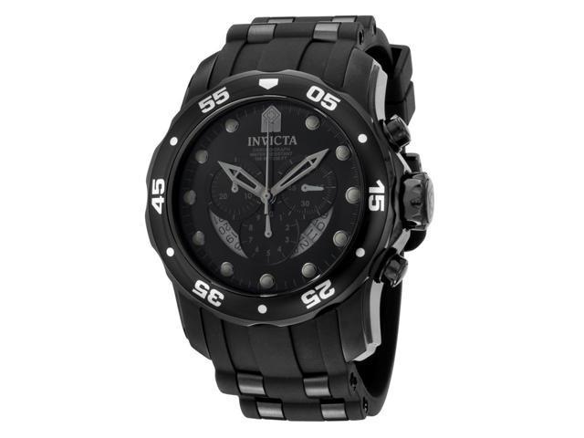 Invicta Men's Pro Diver Chronograph Black Polyurethane