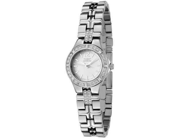 Invicta 0126 Women's Wildflower Stainless Steel White Dial Stainless Steel Watch