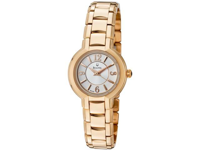 Bulova 97L122 Women's Gold-Tone Stainless Steel White Dial Watch