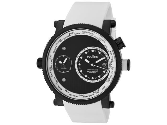 Red Line 50037-Bb-01-Wht Specialist White Silicone White Dual Time Dial Watch