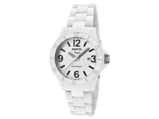 Invicta Women's Angel White Dial White Plastic