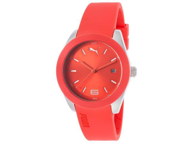 Puma Pu102712007 Women's Grip Coral Polyurethane And Dial Watch