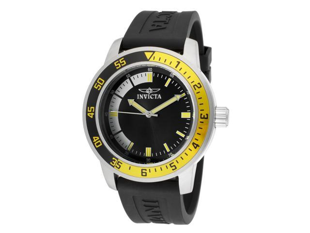 Invicta 12846 Men's Specialty Black Polyurethane Black Dial Watch