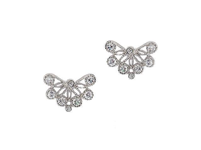 Lace C.Z. Diamond S/S Stud Earrings