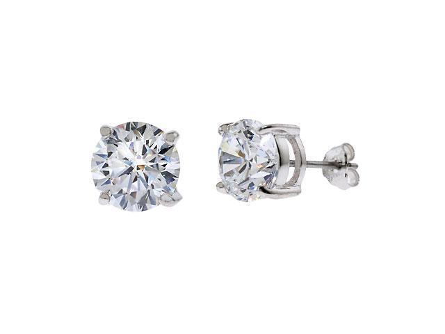 6Ct Tw Cubic Zirconia Diamond Basket Setting (.925) S/S Stud Earrings