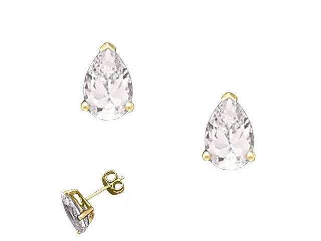 1Ct Tw Cubic Zirconia Diamond Tear Shape Basket Setting (.925) S/S Stud Earrings
