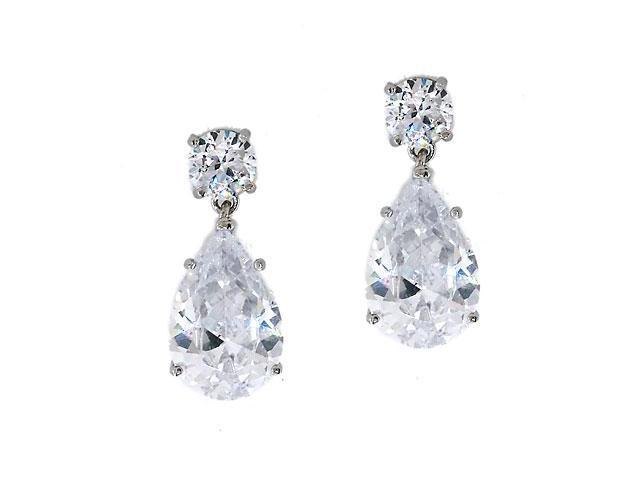 Oprah 'S C.Z. Diamond Pear Drop Earrings Jewelry