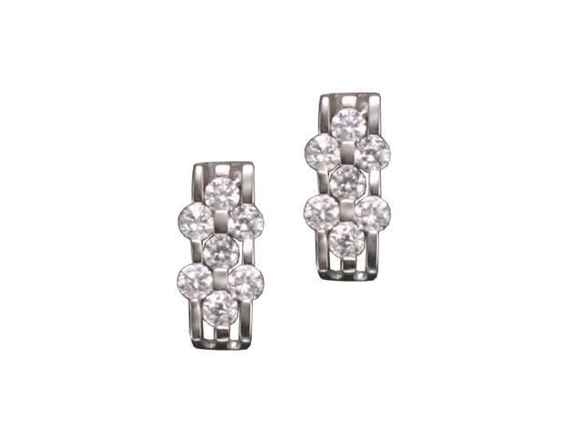 C.Z. Brick Rhodium Plated (.925) S/S Earrings