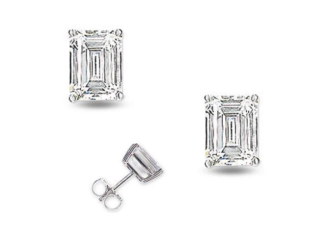 Bridal 1Ct Tw Trillion Cut C.Z. Diamond (.925) S/S Stud Earrings