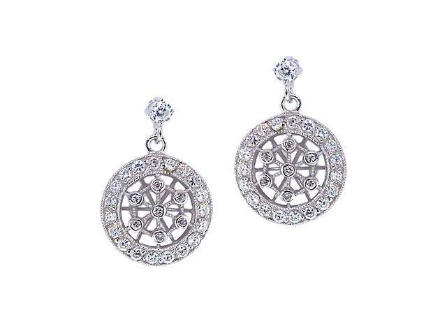 Dangling Lacy C.Z. Diamond Earrings