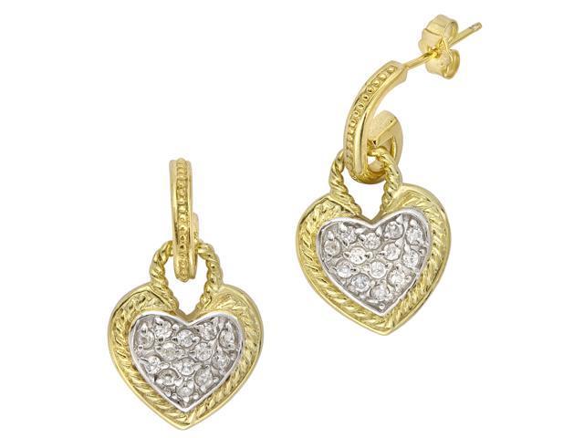 Designer Inspired Gold Vermeil Heart Hanging Earring