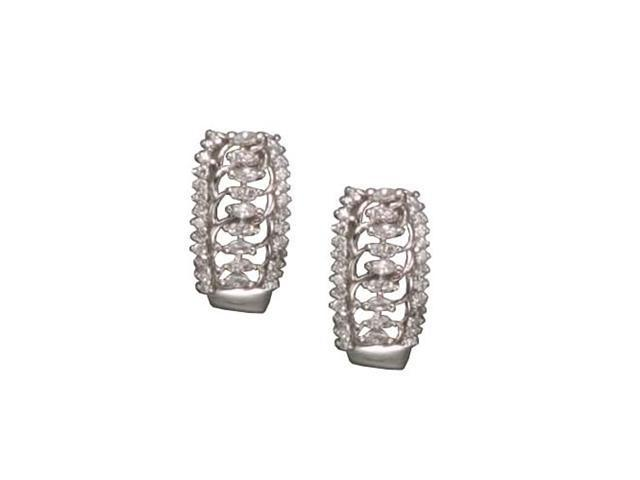 C.Z. Marquis Clip Post Rhodium Plated (.925) S/S Earrings