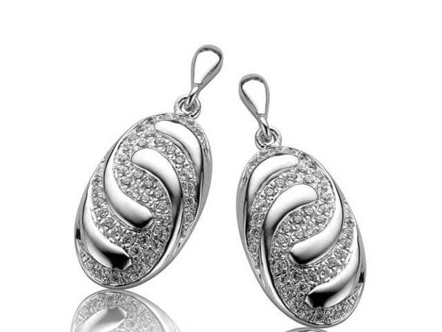C.Z. (.925) S/S Oval Micro Setting Earrings