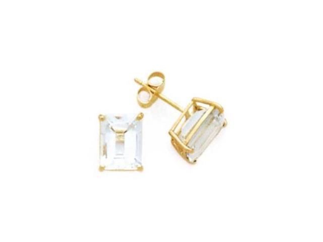 Bridal 8Ct Tw Trillion Cut C.Z. Diamond (.925) S/S Vermeil Plated Stud Earrings