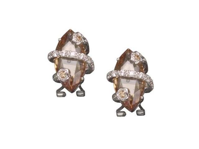 C.Z. And Champ Marquis Rhodium Plated (.925) S/S Earrings