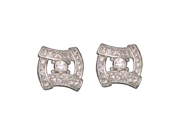 C.Z. Rhodium Plated (.925) S/S Earrings