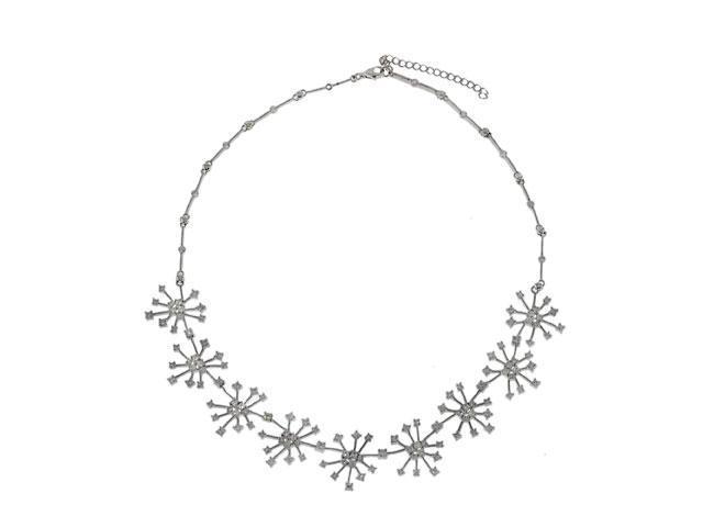 Snowflake Diamond Platinum Vermeil Winter Necklace