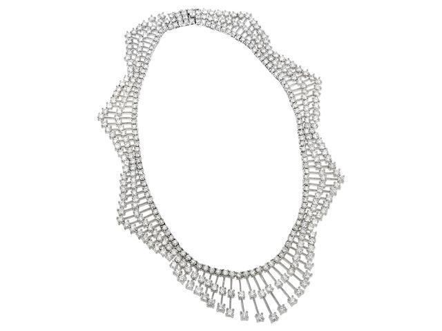 Cz Diamond S/S Dainty Wedding Necklace