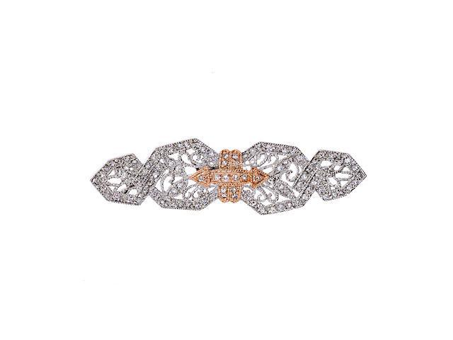 Exquisite Cubic Zirconia Diamond Silver Pin Brooch