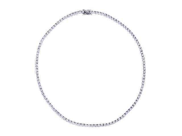Cubic Zirconia S/S Bridal Tennis Necklaces