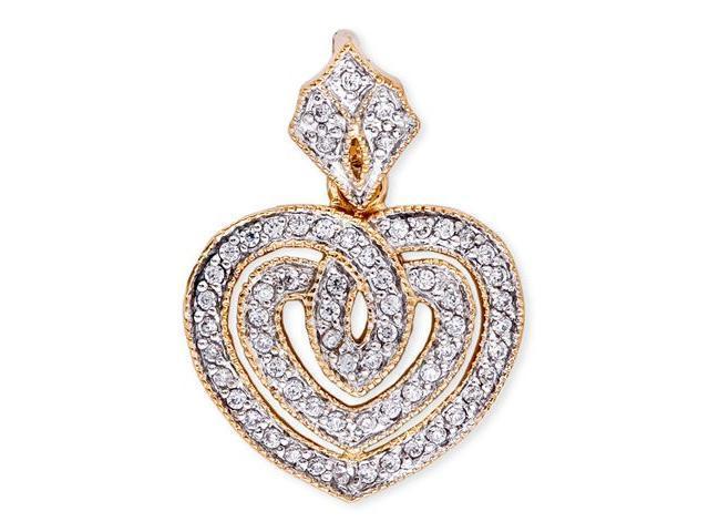 C.Z. Diamond Two-Tone Eternal Open Heart Pendant