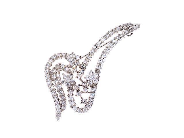 S/S C.Z. Diamond Pin Brooch