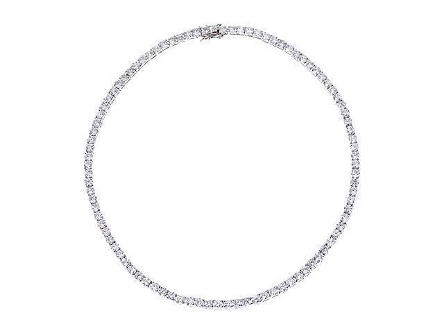 Julie'S 5Mm S/S C.Z. Diamond Tennis Necklace