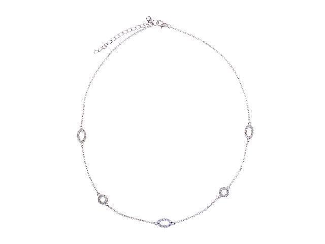 Aimee'S S/S C.Z. Diamond Necklace 36''