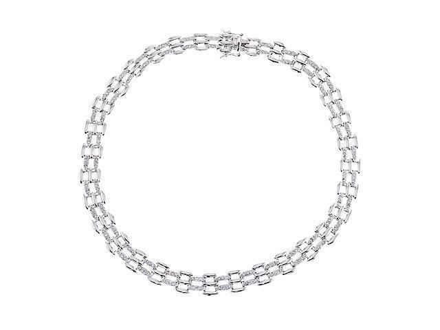C.Z. Diamond Versatile S/S Weave Necklace