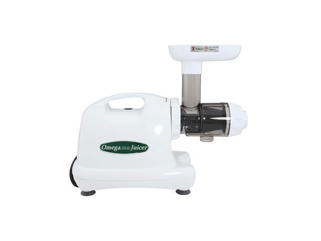 Omega J8004 Nutrition Center Commercial Masticating Juicer - White