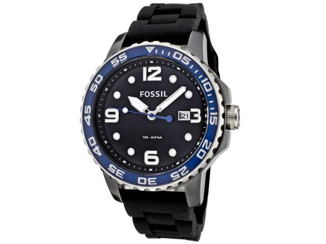 Fossil Ceramic Silicone Black Dial Men's watch #CE5004