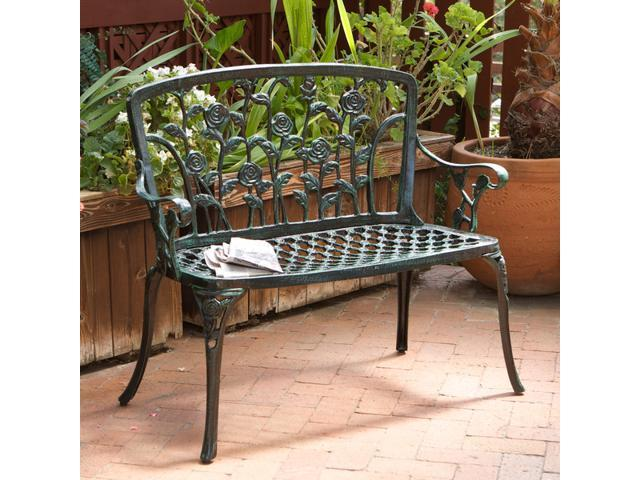 Christopher Knight Home Saint Kitts Cast Aluminum Outdoor Patio Bench