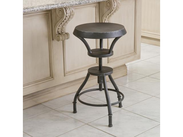 Christopher Knight Home Lucian Iron Top Adjustable Barstool