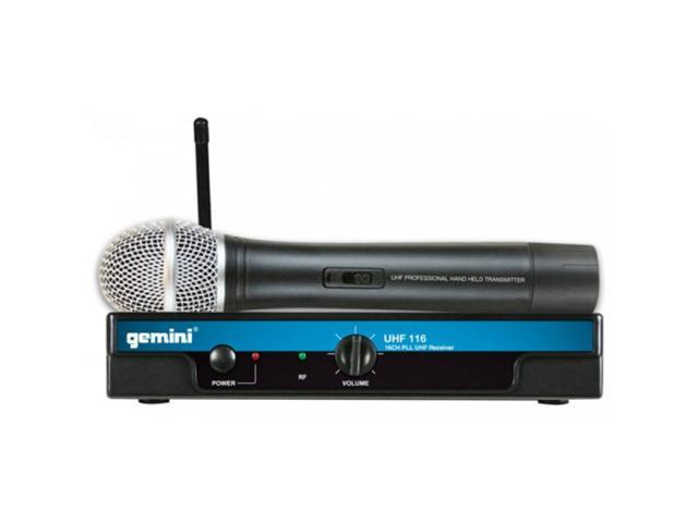 Gemini UHF-116M UHF Handheld Wireless System UHF Handheld Wireless Mic System