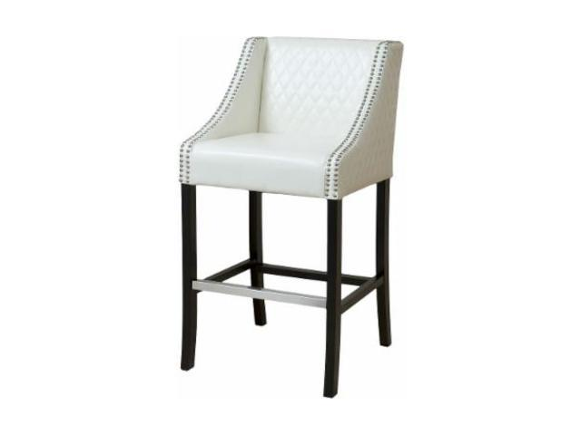 Christopher Knight Home Milano Ivory Quilted Leather Bar Stool