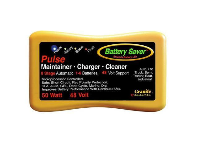 Battery Saver Battery Charger, Maintainer & Cleaner - (48 Volt) 50 Watt 2365-48