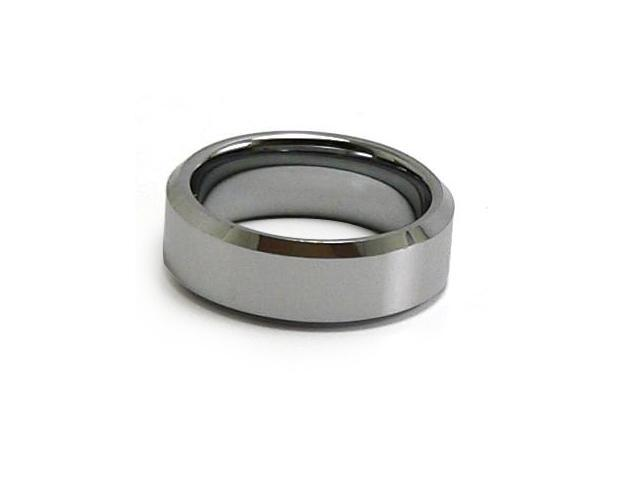 Unisex Tungsten Carbide Ring, Polished, Comfort Fit (Sizes 4-16)