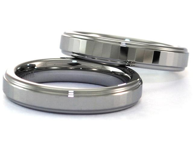 4mm Tungsten Carbide Ring Gently Faceted