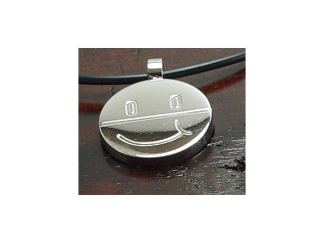 Happy Face Stainless Steel Pendant nice polished finish