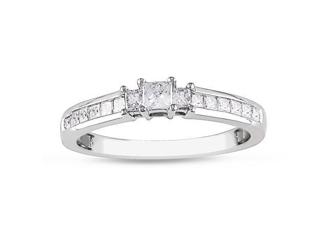 1/2 ct.t.w. Diamond Engagement Ring in 10k White Gold, I2-I3, G-H-I