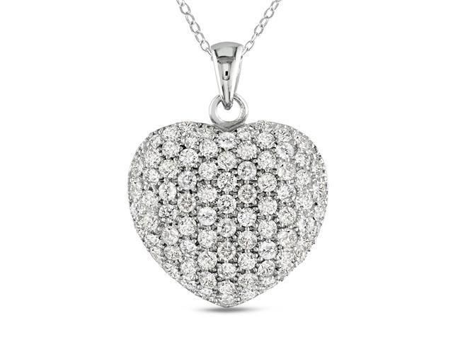 25mm Heart Shaped Sterling Silver and Cubic Zirconia Pendant Necklace